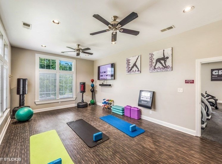 Flex Rooms With Fitness Space For Yoga, Spin And Pilates at Brittany Commons Apartments, Spotsylvania, VA, 22553